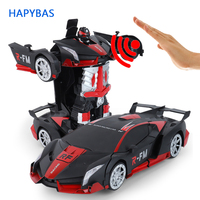 High quality RC Car 1:12 big Gesture sensing Electric Transformation Robots Sports Cars drift Model Remote Control car toy