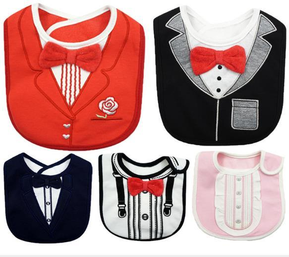 25dc88e55f9e Baby Toddler Infant Boys Drool Drooling Bibs Bowtie Tuxedo Bow Neck Tie Burp  Cotton Baby Bibs for Drooling and Teething