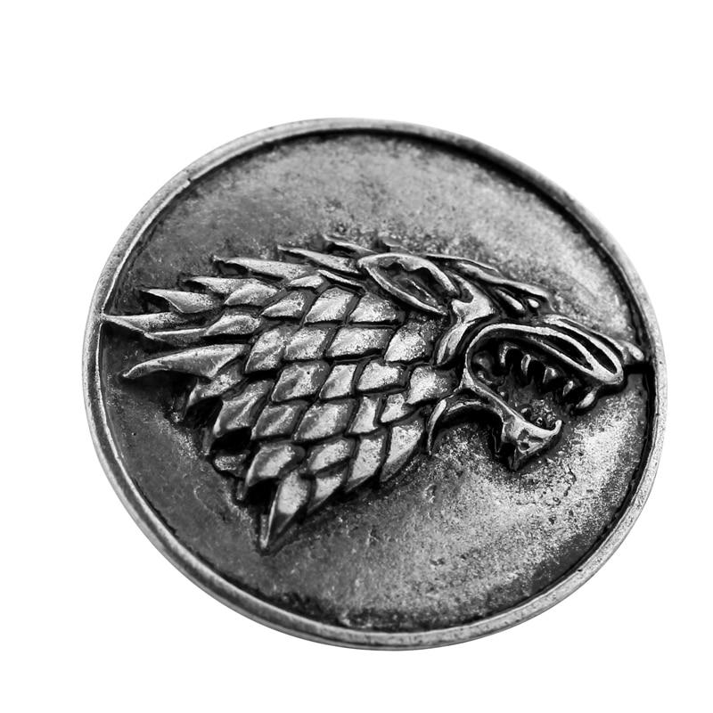 plata Juego de Tronos de la mano de la insignia Inspirado rey Metal Broche de solapa para los aficionados
