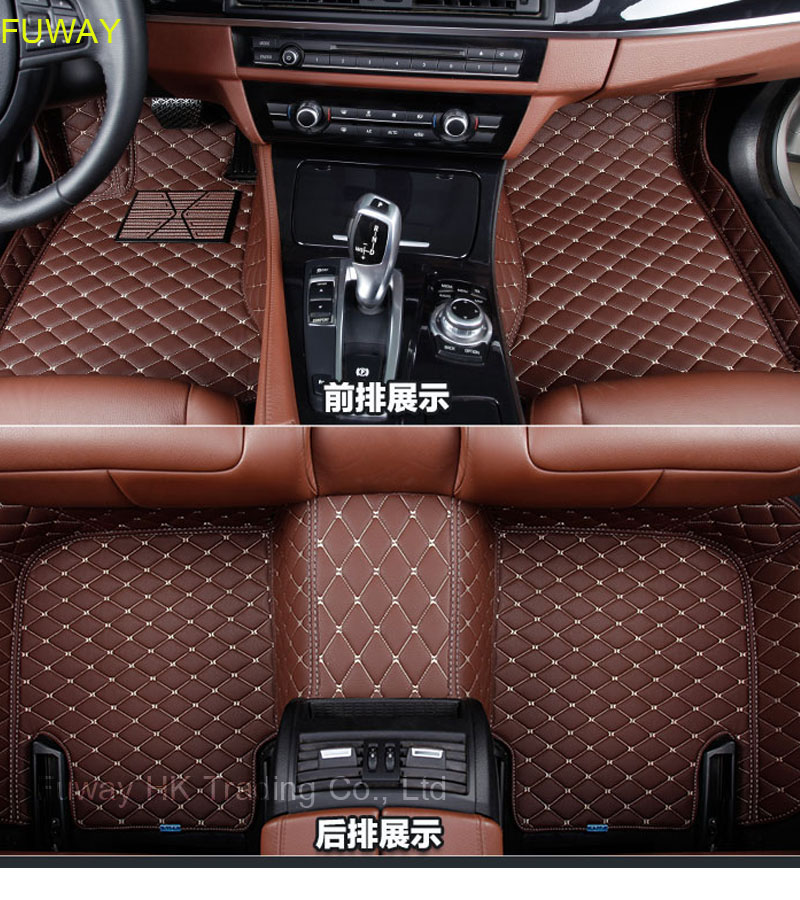 Custom car floor mats for Toyota All Models Corolla Camry Rav4 Auris Prius Yalis Avensis 2014 accessories auto styling floor mat universal pu leather car seat covers for toyota corolla camry rav4 auris prius yalis avensis suv auto accessories car sticks
