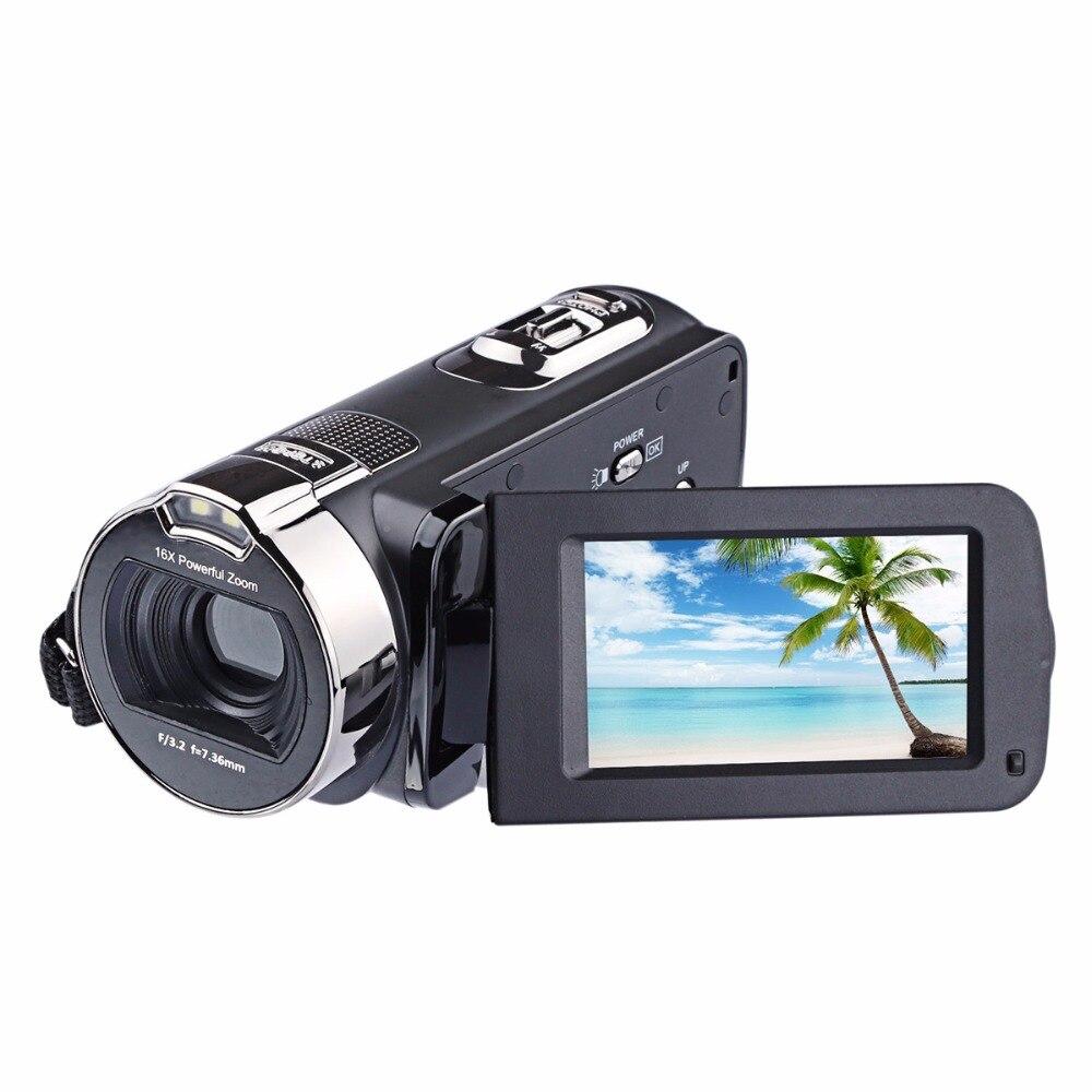 HDV 312P 2.7 ''polegada 24.0MP Câmera 1080P 16x Zoom Digital DV câmera de vídeo Tela Girar câmera fotografica filmadora