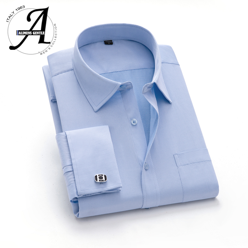 15XL 12XL 9XL Big Size French Cuff Shirt Slim Fit Casual Shirts Brand New Camisa Masculina Long Sleeve French Cuff Dress Shirts