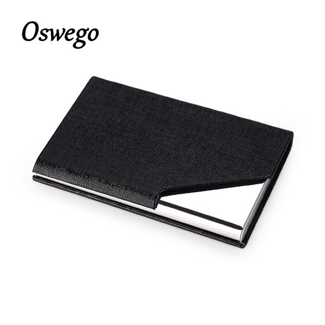 Oswego stainless steel oracle grain pu leather metal magnet cover oswego stainless steel oracle grain pu leather metal magnet cover business cards holder cigarette pocket case colourmoves