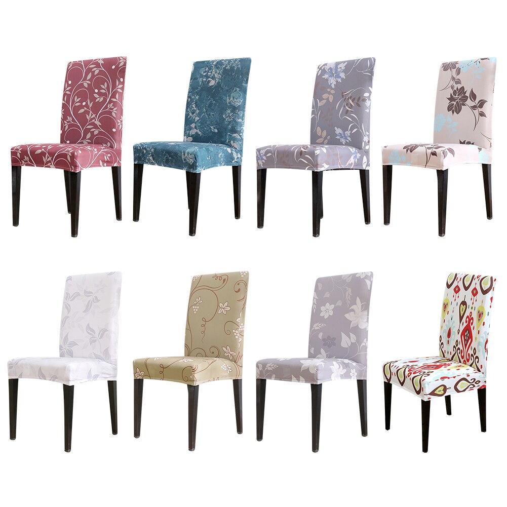 1 Pc Digital Print Elastische Stoel Cover Stretch Dining Seat Cover Hoes Restaurant Banket Hotel Home Decoratie Verlichten Van Reuma En Verkoudheid