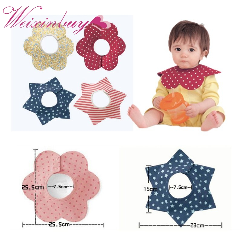 Cotton Baby Bibs Babador Four Layer Waterproof Slobber Towel Baby Bib Swivel Snap Octagonal Circular Rice Bag