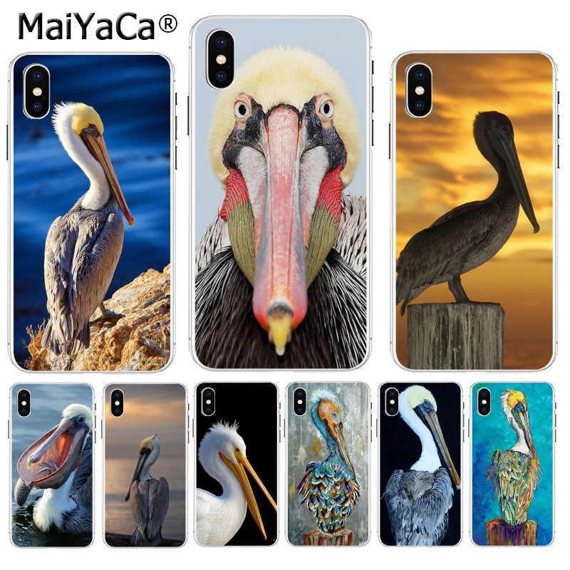 MaiYaCa Dier Vogel Pelikaan 2018 Gekleurde Tekening telefoon Geval voor Apple iPhone 8 7 6 6S Plus X XS max 5 5S SE XR Mobiele Cover