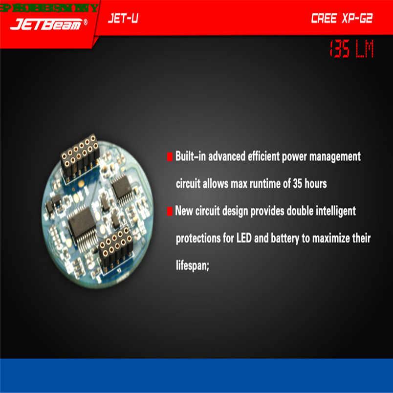 חדש!!! JETbeam JET-U XP-G2 135LM מיני נייד עמיד למים LED פנס משלוח חינם # NO25