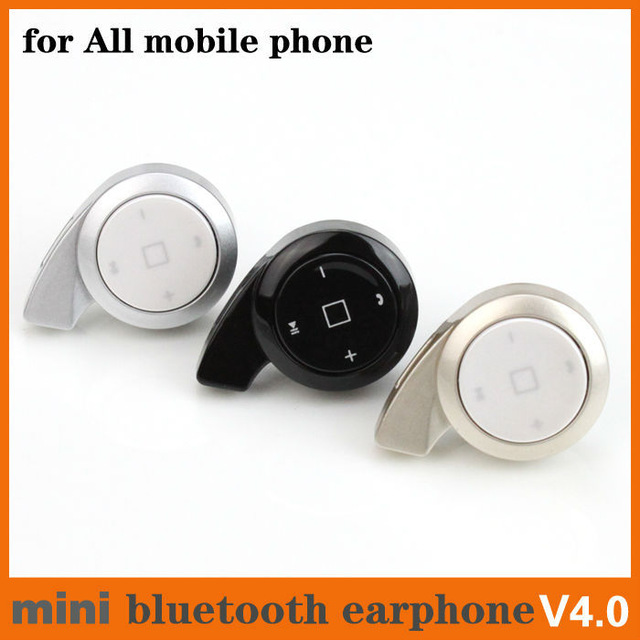 New Mini Ear Hook and In Ear Stereo headphone Handsfree MIC Bluetooth Headset V4 0