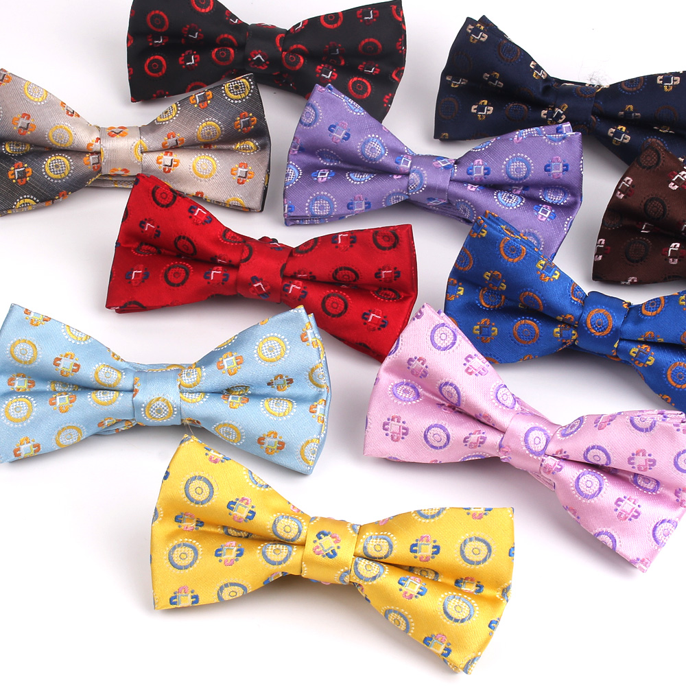 NEW Bow Tie For Men Women Classic Suits Bowtie For Business Wedding Bowknot Adult Jacquard Floral Bow Ties Cravats Ties