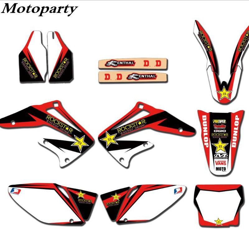 Bricolage moto décalcomanies Graphiques complets et milieux autocollants kits pour honda CRE450R CRF 450 2002 2003 2004 CRF 450 450R