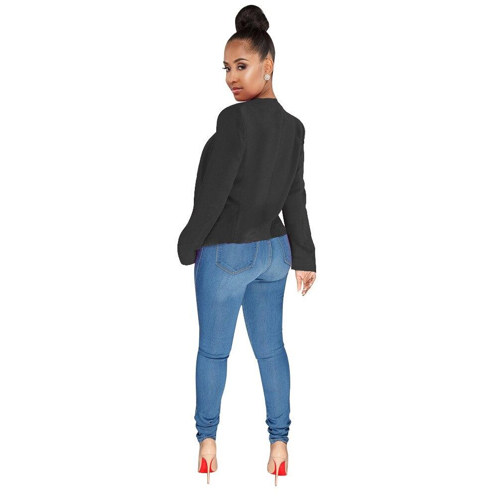 OMILKA 2018 Summer Autumn Women Long Sleeve Cardigan Short Blazer Elegant White Black Rose Office Lady Work Bomber Jacket Blazer