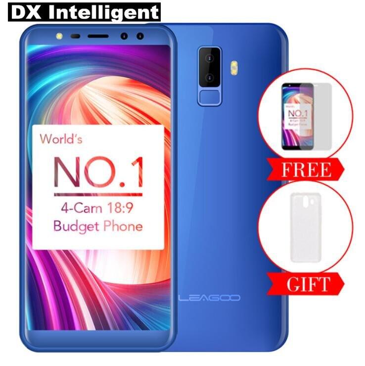 LEAGOO M9 MT6580A Quad-Core 3g смартфон 5,5 дюймов 18:9 HD полный Экран 2 ГБ 16 ГБ Android 7,0 8MP Quad Камера 2850 мАч отпечатков пальцев