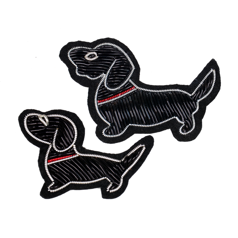 Embroidered Iron On Applique Patch Crafts Pet Dog Finnish Spitz