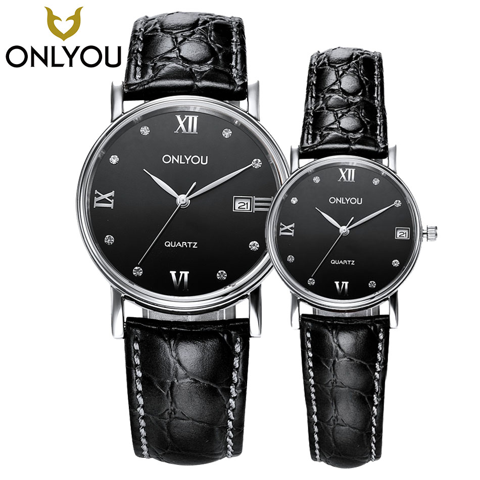 ONLYOU 2017 NEW Luxury Brand Men Military Sport Watches Woman Quartz Clock Couple Real Leather Band Wristwatch in Gift Caskets corporate real estate management in tanzania