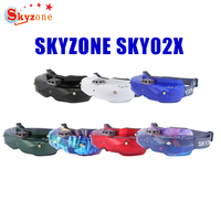 SKYZONE SKY02X 5.8Ghz 48CH Diversity FPV Goggles Support 2D/3D HDMI Head Tracking & Fan DVR Front Camera For RC Racing Drone