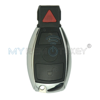 Smart Ключи Автозапуск Бланк В виде ракушки чехол 2 кнопки с паникой для Mercedes Benz iyzdc12k remtekey удаленного Оболочки