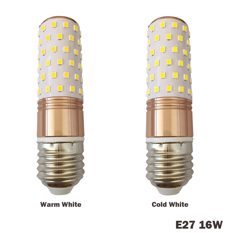 E14 E27 12W 16W LED Corn light Bulb SMD2835 LED Bulb 220V 3 Color Temperatures Integrated LEDs Candle light Spotlight