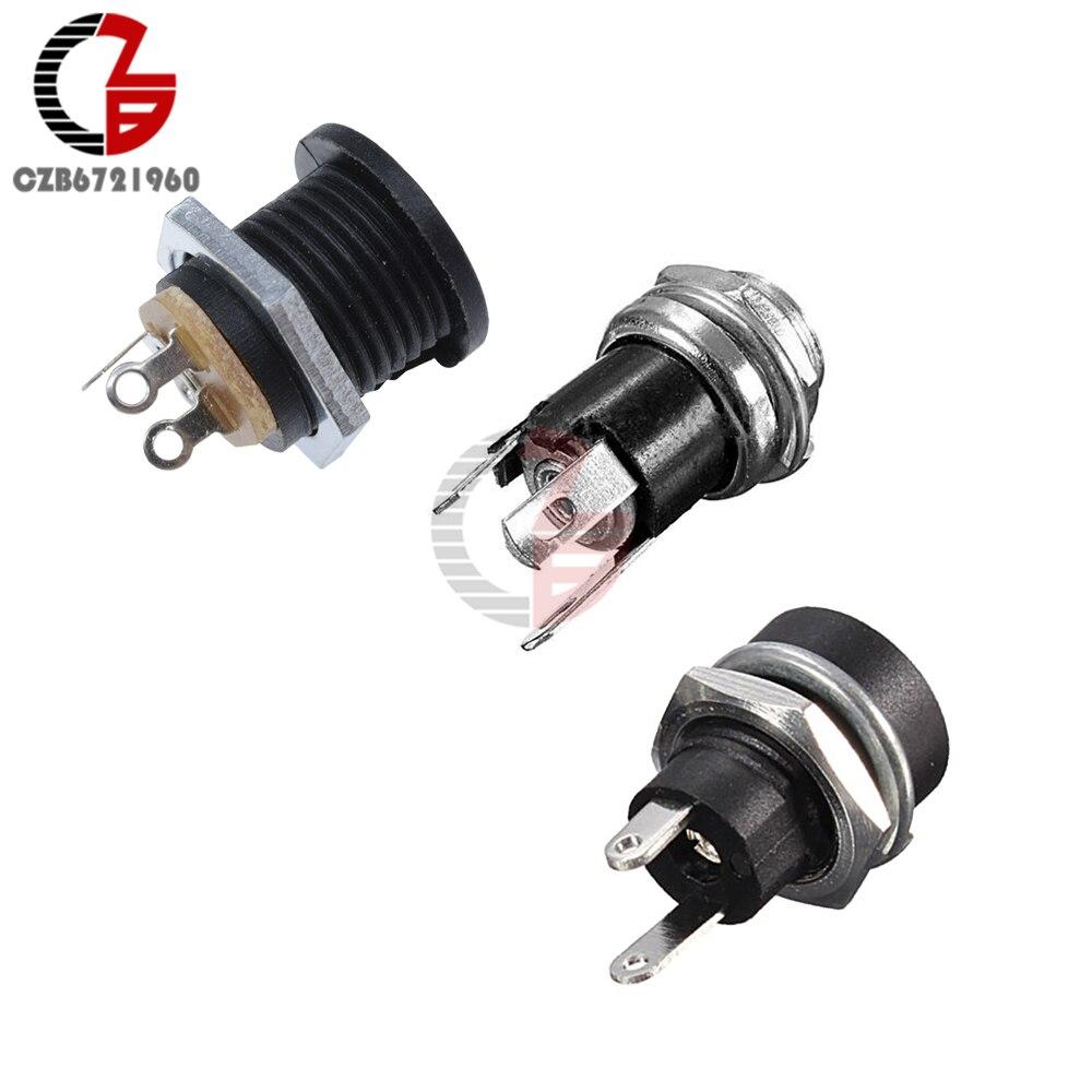 10pcs 5.5mm*2.1mm DC-022 DC Power Outlet Diameter 5.5mm Inner Pin 2.1mm