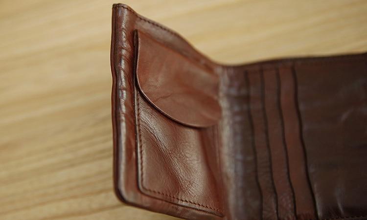 LAN men wallets distressed wallet brand handmade coin purses holders