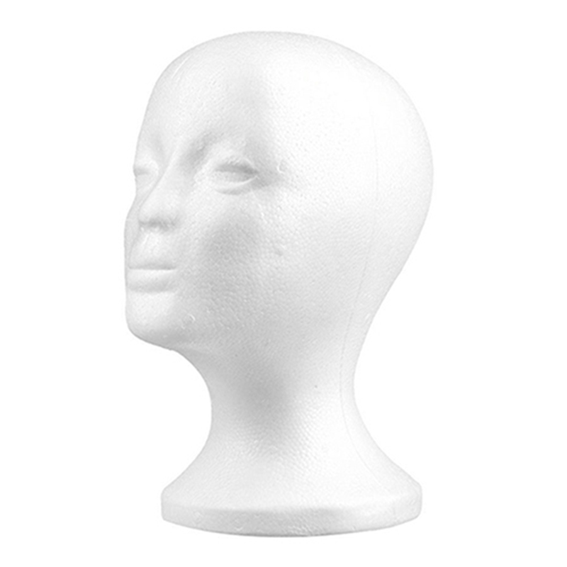 1 pc Practical Foam Female Mannequin Head Wigs Glasses Cap Display Holder Stand Model 53cmX26cm
