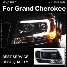 AKD автомобильный Стайлинг Головной фонарь для Jeep Grand Cherokee фара 1999-2004 светодиодный фонарь DRL Hid Bi Xenon объектив авто аксессуары