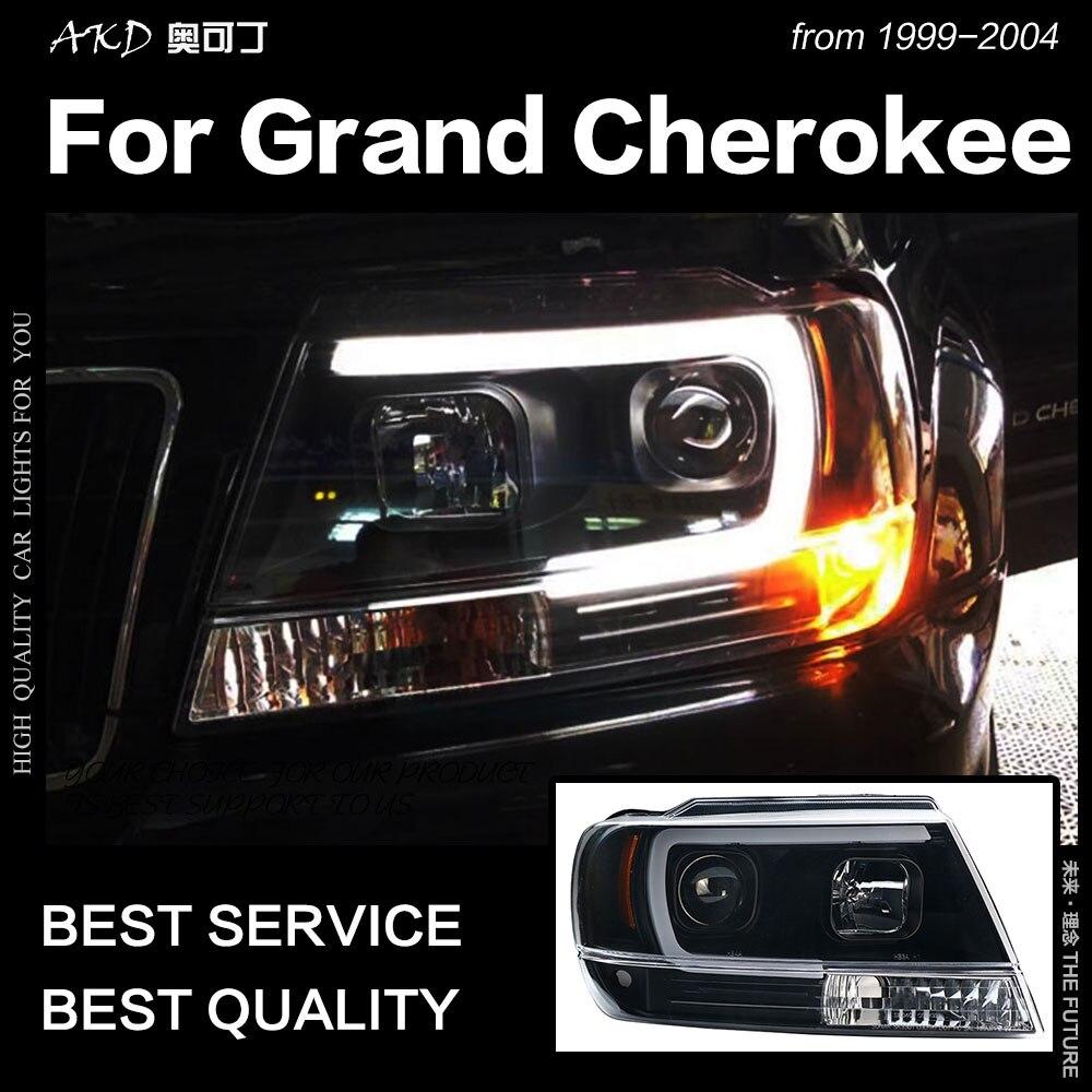 AKD lampe de tête de style de voiture pour Jeep Grand Cherokee phare 1999-2004 phare LED DRL Hid Bi xénon lentille Auto accessoires
