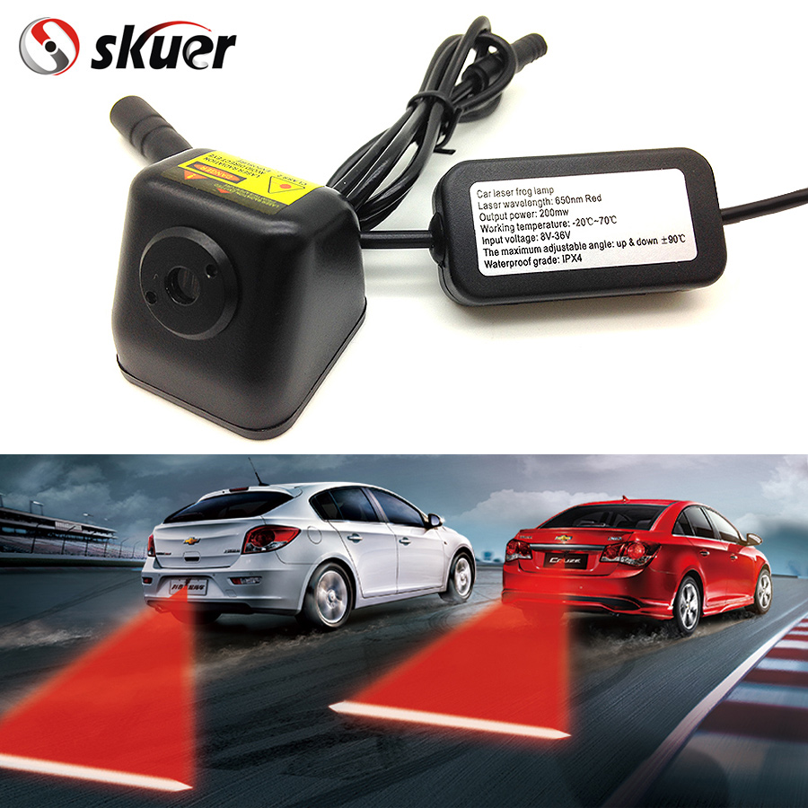 Free Shipping Car Styling Anti Collision Rear End Car Laser Tail 12V LED Car Fog Light