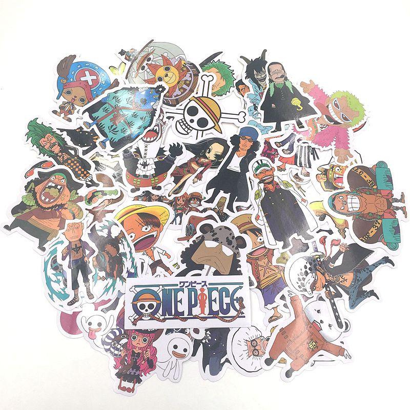 TD ZW 42 Sztuk / zestaw One Piece Naklejki Pvc Wodoodporna Aminy Naklejki Na Samochód SuitCase Rowerów Laptop Lodówka Skateboard