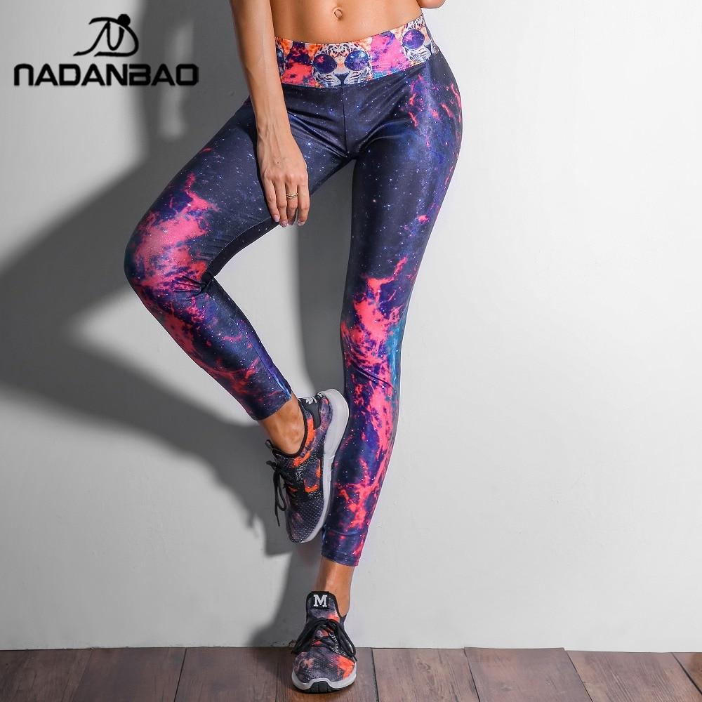 NADANBAO Fashion Galaxy Printed Sporting   Leggings   Women Compression Trouser High Elastic Pantalones Mujer Pants