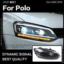AKD автомобильный Стайлинг для Polo фар 2010- Vento светодиодный фонарь светодиодный DRL Hid головной фонарь Ангел глаз биксеноновый луч аксессуары