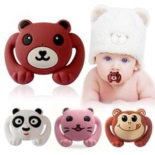 Children Pacifiers Silicone Pacifier Clips Infant Dummy Nipple Toddler Teat Funny Cartoon Monkey Panda Nipple Baby Teether Care cute newborn silicone funny baby pacifier clips chain animal pacifiers with plush toy soother nipple dog monkey worm anz01