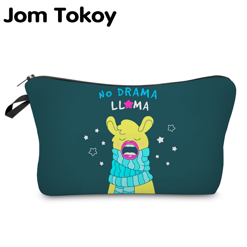 Jom Tokoy Printing  Makeup Bags Multicolor Pattern Cute Cosmetics Pouchs For Travel Ladies Pouch Women Cosmetic BagJom Tokoy Printing  Makeup Bags Multicolor Pattern Cute Cosmetics Pouchs For Travel Ladies Pouch Women Cosmetic Bag