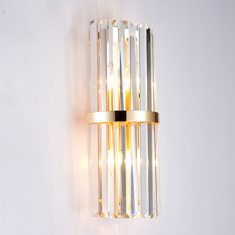 Captivating Modern Gold Crystal Wall Lamp Shopcase Tall Clear Crystal Bar Lighting  Villa Hotel Bedside Lamp Mirror LED Wall Lights Banheiro In Wall Lamps From  Lights ...