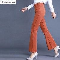 Осень Брюки шаровары длинные штаны черный оранжевый эластичный Для женщин Одежда Весна Мотобрюки плюс Размеры 4XL 3XL 2XL xl, l, m, s