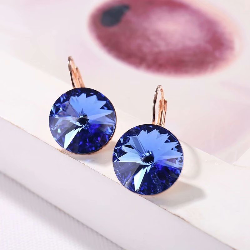 Hot Selling Crystals From Swarovski Dangle Earrings 2019 With Round Stones For Women Elegant Party Wedding Jewelry For Sale