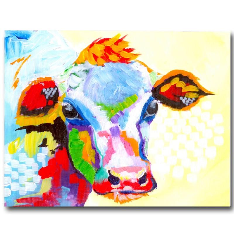 Berėmiai paveikslėliai Abstraktus karvės spausdinimas Tapyba - Namų dekoras - Nuotrauka 6