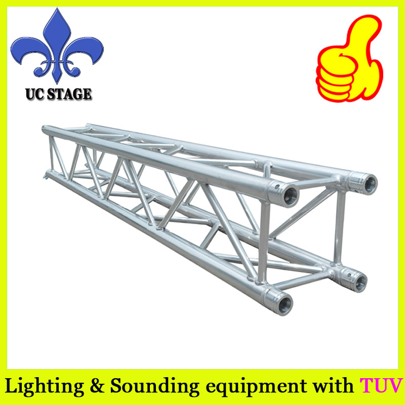 aluminum truss 100% compatible with Euro truss 290mm aluminum stage truss structure event lighting spigot truss with black coated