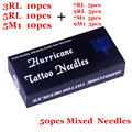 Mix Tattoo Needles 50 pcs/lot Disposable Sterile Tattoo Needles Mix Sizes RL M1 Tattoo Needles