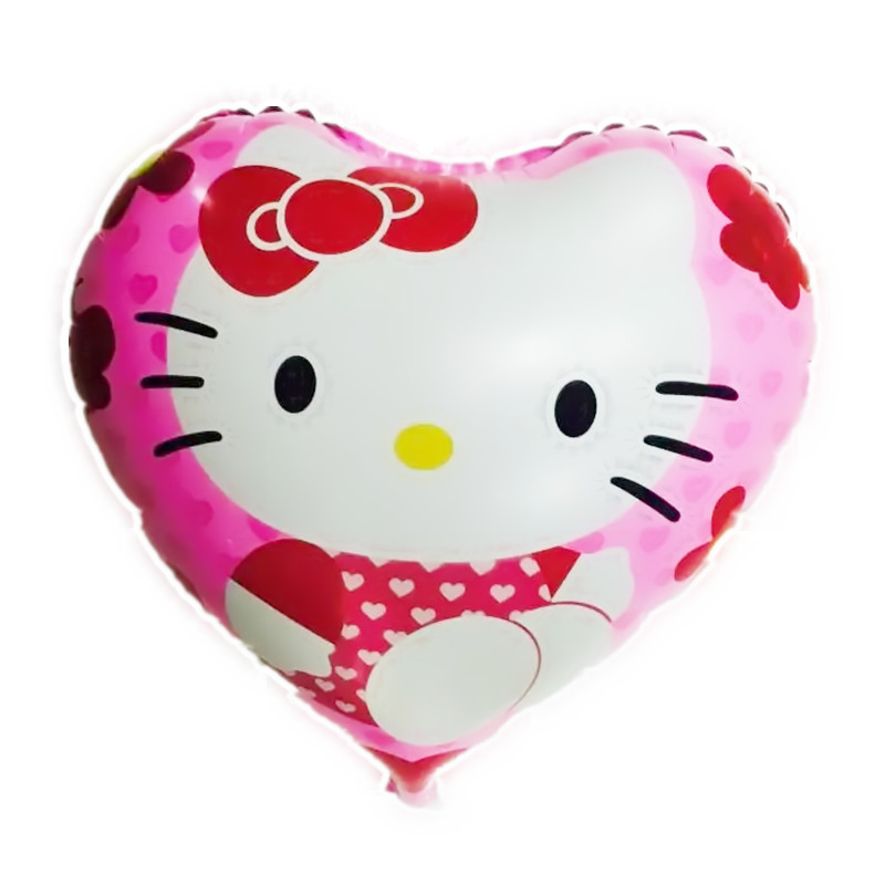 BINGTINA Hot toys for children Wedding birthday balloons decorated heart-shaped balloon kt cat balloon high quality wholesale