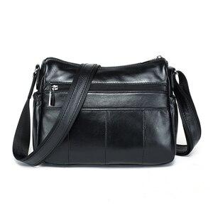 Image 4 - MEIGARDASS prawdziwej skóry Crossbody torby dla kobiet torba na ramię luksusowe torebki kobiet torba materiałowa portfele damskie Messenger torby
