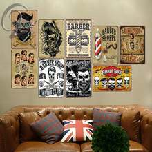 Barber Shop Poster Wall Sticker Metal Tin Sign Bar Pub Cafe Home Man Cave Vintage Wall Decor(China)