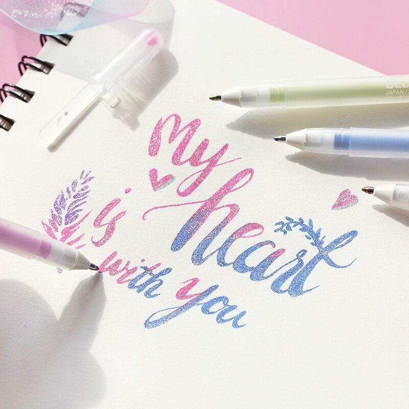 SAKURA 0.6mm Glitter Colored Gel Pen Gelly Roll Stardust Pen Highlighters Pen For Scrapbooking Diy Stationary
