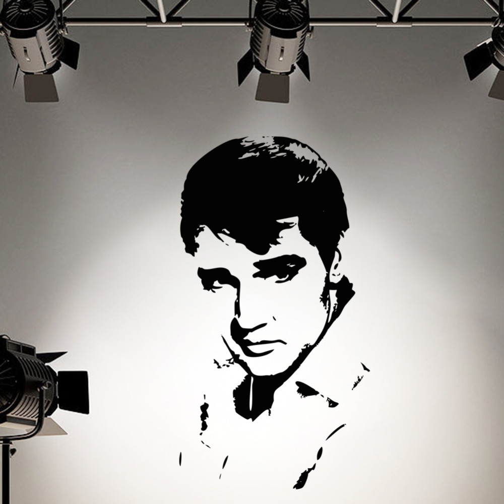 Elvis Presley wall sticker kids rooms vinyl removable waterproof Wall silhouette mural stickers home decor & - Shanghai Paradise decoration store