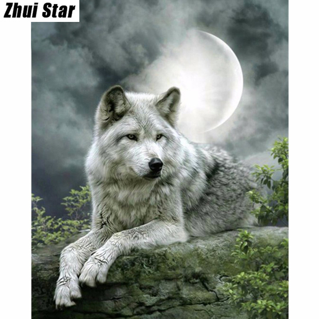 5d Diy Diamond Painting Wolf Embroidery Diamond Painting Cross