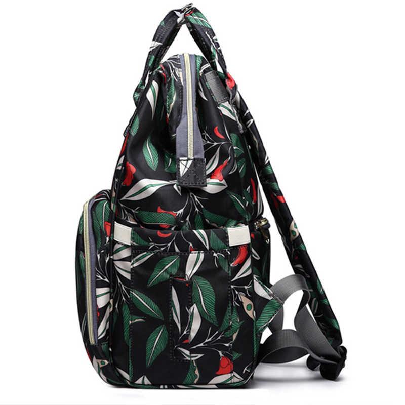 Bezi çantası sırt çantası anne çantası Annelik büyük nappy çanta Bolsa Maternida Baskılı Bebe bebek çantası seyahat sırt çantası Bebek Bakımı islak çanta