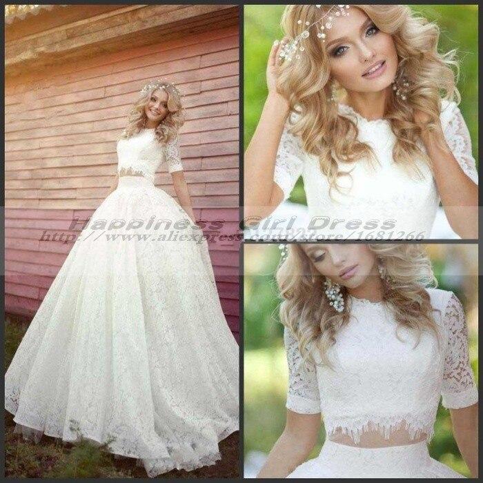 Beautiful 2 Piece Wedding Gowns Gallery - Styles & Ideas 2018 - sperr.us