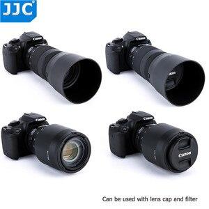 Image 3 - JJC lentes reversibles parasol para Canon EF 70 300mm f/4 5.6 IS II USM sustituye a Canon ET 74B con botón para Bloquear o liberar