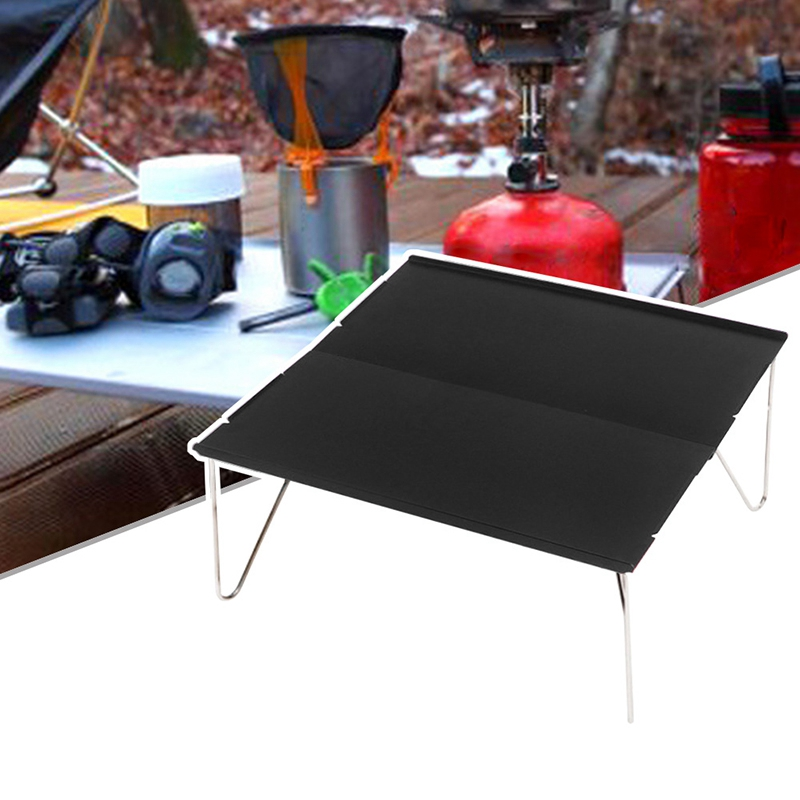 Image 5 - Outdoor Folding Table Durable Aluminum Plate Portable Table Lightweight Mini Furniture For Barbecue Camping Picnic Hiking-in Outdoor Tables from Furniture