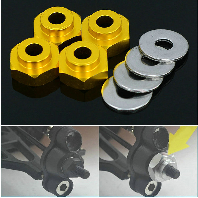 (4 pieces/set)HSP RC Car 1:10 (12MM) to 1:8 (17MM) Wheel Hexagon Connection Hexagon Connection