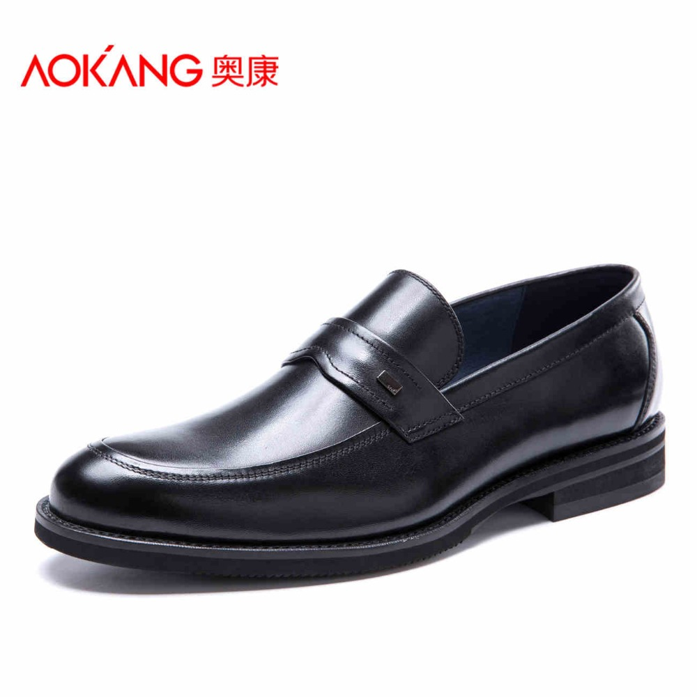 AOKANG 2017 New Arrival men's casual shoes men cow leather shoes men's fashion shoes free shipping designing of an information retrieval system in veterinary science